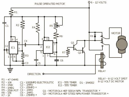 Pulse Type Motor Control Circuit